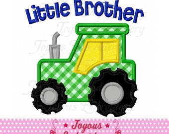 Instant Download Little Brother Tractor Applique Embroidery machine Design NO:2168