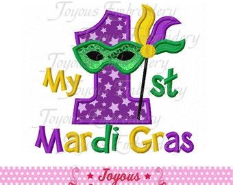 Instant Download My 1st Mardi Gras Applique Machine Embroidery Design NO:1906