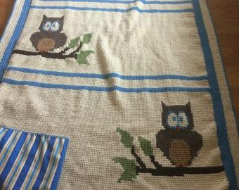 Crocheted Owl Afghan