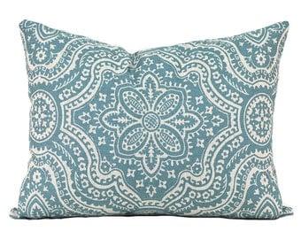 Lumbar Pillow Covers Decorative Pillows Blue Pillow Premier Prints Dakota Blend Cadet Oatmeal