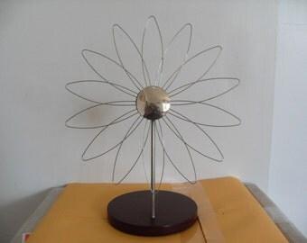 Modern Desk/Table Top Wire Flower Sculpture in Steel