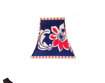 Vintage Fabric Lamp Shade! Vintage Lamp Shades, Patriotic Decor, Patriotic Decorations, Red White and Blue