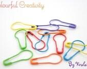 Hiyahiya Knitter's Safety Pins - Rainbow