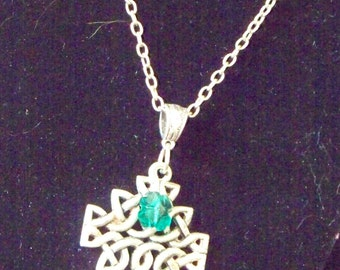 Celtic Cross and  Emerald Necklace