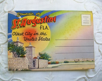 St. Augustine Postcard Folder