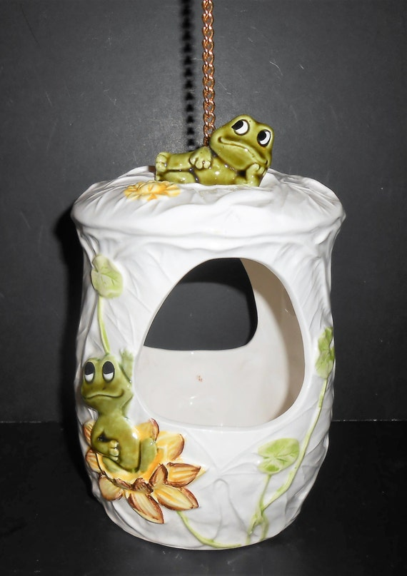 Vintage Planter Neil The Frog Hanging Planter Pot Frog