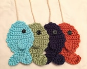 Crocheted Fish, Newborn Photo Props, Fisherman Prop