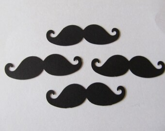 "Set of 50 Mustaches- 3"" Mustache Die Cut"
