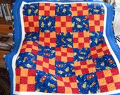 Space Rockets Baby and/or Toddler Quilt