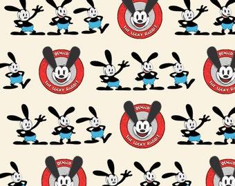 Custom Oswald the Lucky Rabbit Fabric