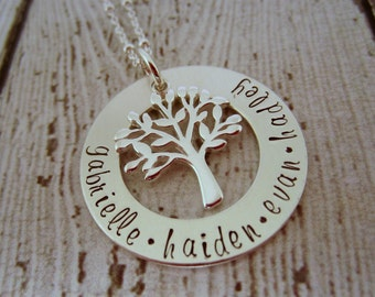 Family Tree Necklace, Personalized Necklace for Mom, Family Necklace, Mom Necklace, Jewelry for Mom, Personalized Jewelry for Moms