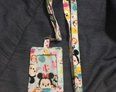 Disney Tsum Tsum card Id pouch with lanyard