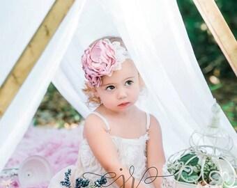 Blushing Beauty Headband (made to match my Blushing Beauty dress)