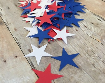 Red White And Blue Star Confetti ~ 4th of July ~ Patriotic ~ Table Decor ~ 50 Pieces