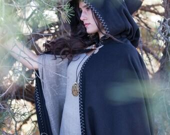 "In stock! Unisex Woolen Cloak ""Labyrinth"""