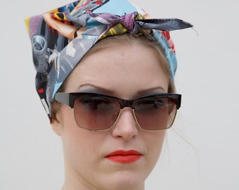 Diner Vintage Style Headscarf
