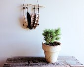 Feather mobile - Native Australian bird feathers driftwood hanging mobile - Limited edition