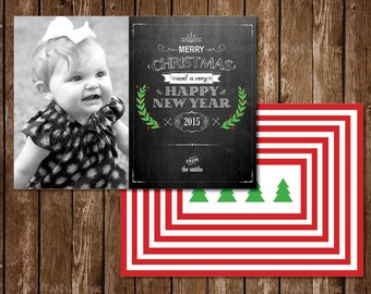 Chalkboard Merry Christmas Chalkboard Photo Card