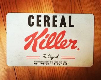 "Cutting board ""cereal killer"""