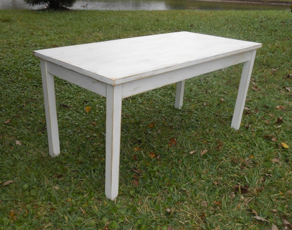 White Table Rustic Coffee Table Farmhouse Coffee by AtticJoys1