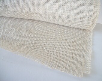 4 Foot White Burlap Table Runner 12 inches X 48 inches Jute Table Decoration Home Decor Rustic Wedding Table Runner White Ivory
