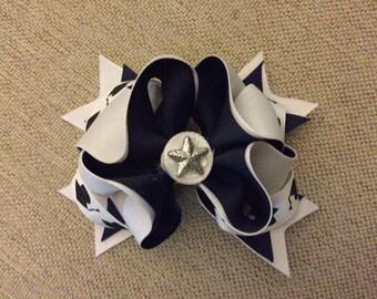 Graduation Black and White Cap Medium Head Band or Hair Bow