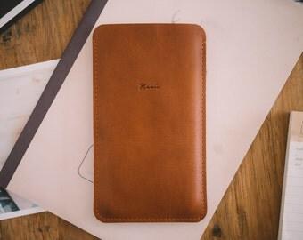 "OnePlus 3 case, OnePlus 3 sleeve, leather, felt, ""Dandy"""