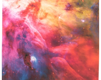Astronomy Fabric Orion Nebula 17 x 17 inch on Combed Cotton Fabric