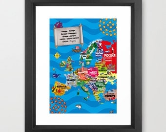 Europe & Beyond - Multilingual Map by Icklelingo
