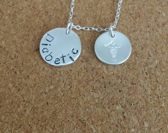 Medical necklace, Medical id, Medical gift, Silver necklace, Hand stamped necklace, Graduation necklace, Nurse graduation gift, Nurse