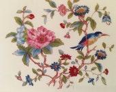 Vintage 1980's Aynsley Acrylic Set of 6 Bird and Flowers Coasters