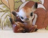 Vintage Plastic Deer Cute Bambi Kitsch