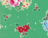 Lecien Flower Sugar Holiday 31327 60 - Half Yard - Rose Cluster - Christmas Fabric - Japanese