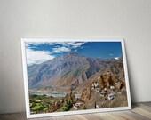 Dhankar of Spiti Valley, Landscape Photograph, Himalayas, Nature, Wall Art Print, Wall Decor, Fine Art Print, Home Decor,Mountain