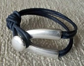 Leather bracelet for women, bracelets for women, silver bracelets, leather jewelry, gift for her, birthday gift, bracelet for women