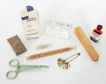 Vintage Medical First Aid Supplies
