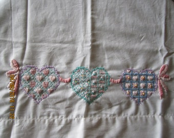 Hearts and Ribbons Pillowcase