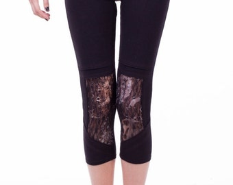 SUMMER SALE SALE 50% OFFCool Black Yoga Pants, Art Leggings, Lace leggings