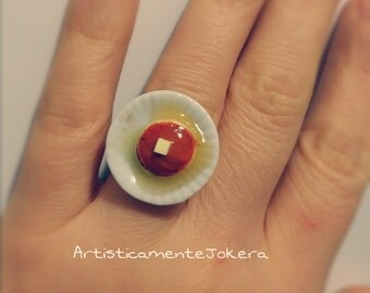 Polymer clay ring.