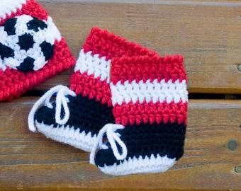 SOCCER SOCKS / SHOES Baby Soccer Crochet, Soccer Baby Socks & Shoes, Baby Knit Soccer, Knit Soccer Cleats, Knit Soccer Socks, Soccer Booties