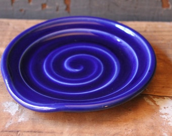 Spoon Rest, Cobalt Blue, Spoon Holder, Dish, IN STOCK, ready to ship