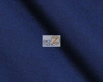 Solid Reversible Formal Poly Cotton Twill Fabric - NAVY BLUE - Sold By The Yard Coats Jackets Skirts Pants Work Clothes