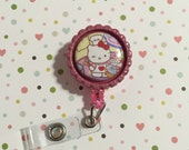 ID Badge clip - Chef kitty