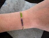 Personalized Charm Bracelet-Delicate Bracelet-Dainty Jewelry-Minimalist-Simple Jewelry-Monogram Charm Bracelet-Gift Bracelet-Free Shipping