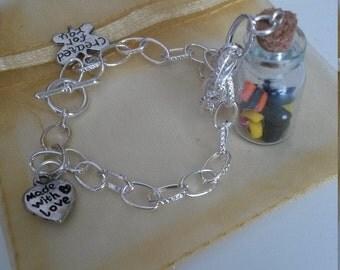 Mini Liquorice Allsorts bracelet
