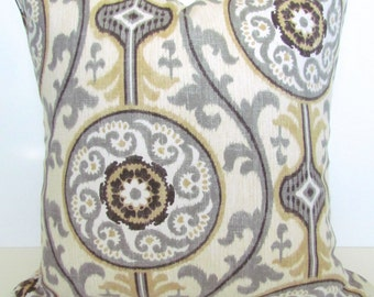 TAN PILLOWS TAN Throw Pillow Covers Gray Pillows Grey Decorative Throw Pillow Covers  Tan & Grey Pillows 16 18x18 20 .All Sizes. Home Decor