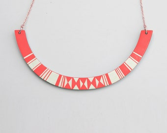 HALO Necklace Coral