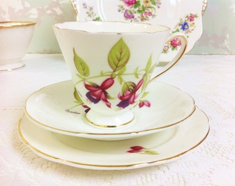 Fuschia Old Royal Tea Trio