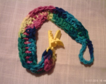 Pacifier or Toy clip Handmade Crochet 100% cotton yarn