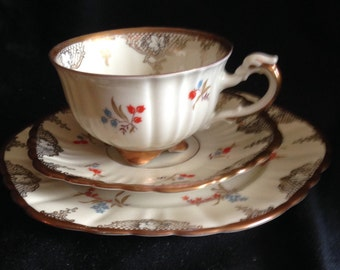 Antique Furstenberg cup & saucer dessert plate